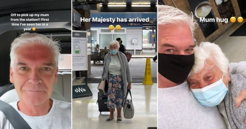 Phillip Schofield overjoyed to finally hug his mum in emotional reunion after a year apart