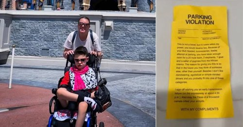 Nasty note left on mum's car as she took disabled son on dream Disney World trip