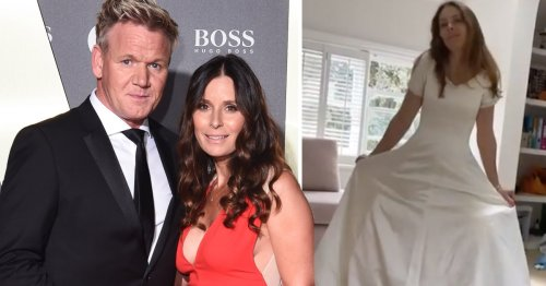 Gordon Ramsay's wife Tana looks incredible in her wedding dress, '25 years and 5 pregnancies later'