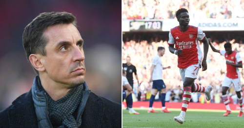 Gary Neville warns Arsenal starlet Bukayo Saka not to end up like Tottenham flop Dele Alli
