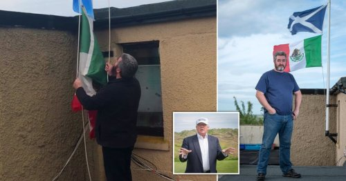 Scottish golf club owner's neighbour lowers Mexican flag after four-year protest
