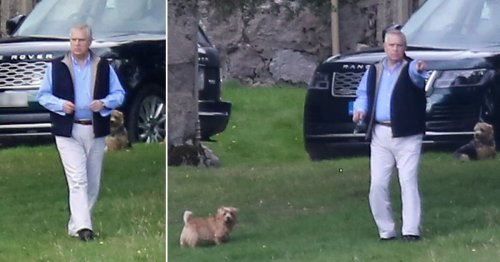 Andrew seen with Fergie at Balmoral hideout as High Court agrees to serve papers