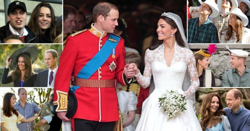 Kate and William's life together in pictures as couple celebrate anniversary