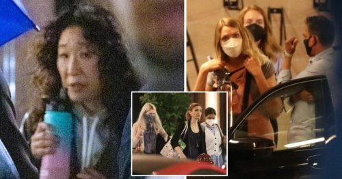 Sandra Oh and Jodie Comer spotted filming Killing Eve season 4 in London