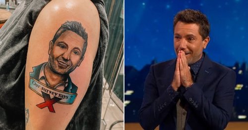 Family Fortunes winner gets enormous Gino D'Acampo tattoo on arm after bagging £30k