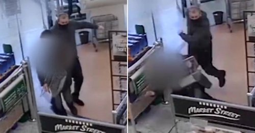 Pensioner's legs kicked from under him by stranger who casually walked off