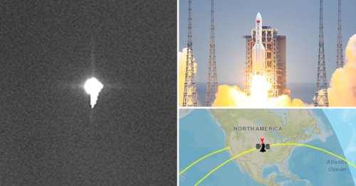 First image of rocket falling to Earth – but we still don't know where it will land