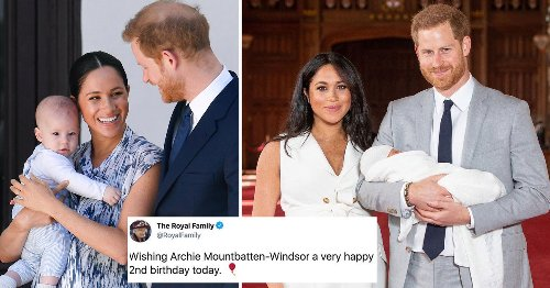 Queen wishes Harry and Meghan's son Archie happy birthday as he turns two