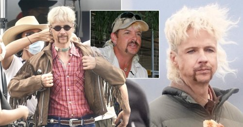 John Cameron Mitchell completely unrecognisable as he transforms into Joe Exotic for Tiger King adaptation