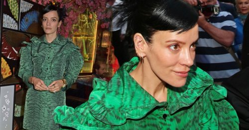 Lily Allen gorgeous in green as she attends exclusive London restaurant opening after hitting back at critics
