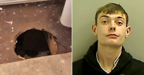 Sex offender used hole in sister's bathroom floor to hide from police