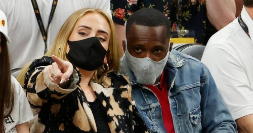 Adele goes Instagram official with boyfriend Rich Paul as they cuddle for photos at Anthony Davis' wedding
