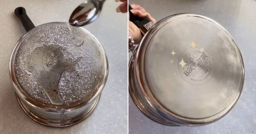 Mum reveals cleaning trick for removing stubborn stains on saucepans