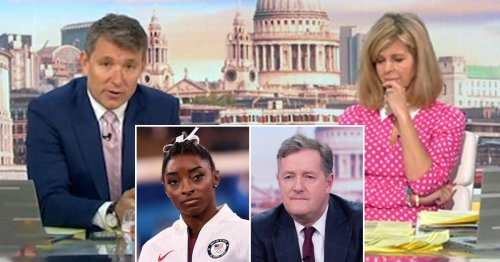 Kate Garraway and Ben Shephard sympathise with Simone Biles after withdrawal as Piers Morgan faces backlash