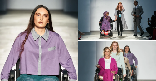 Woman paralysed by meningitis funds London Fashion Week collection for female wheelchair users