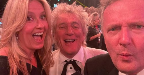 Piers Morgan 'arrested' as he goes 'on the lash' with Sir Rod Stewart and police officer Penny Lancaster