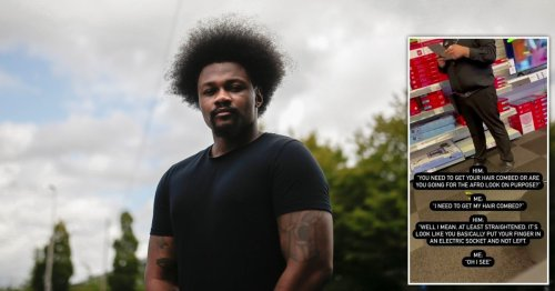 Black shop worker told his hair looked like he 'put finger in electric socket'