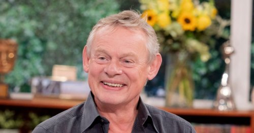 Martin Clunes red-faced as Phillip Schofield apologises for him swearing 3 times in 10 minutes on This Morning