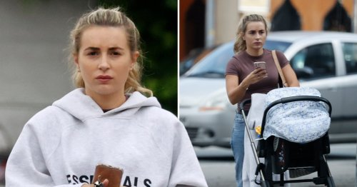 Dani Dyer spotted out with baby son Santiago for first time since boyfriend Sammy Kimmence jailed