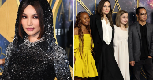 Angelina Jolie and Gemma Chan lead star-studded blue carpet at Eternals UK premiere