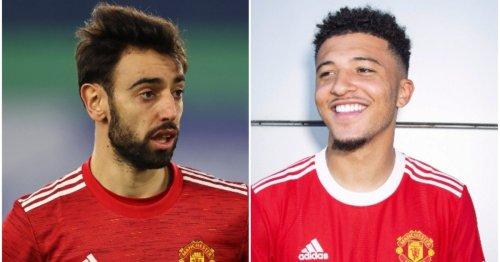 Bruno Fernandes sends message to Jadon Sancho after completing Manchester United transfer