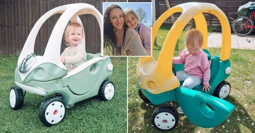 Mum transforms 10-year-old Cozy Coupe into Volkswagen Campervan for just £31