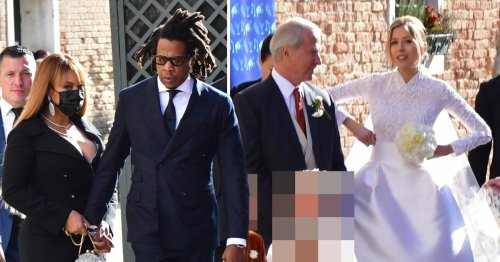 Beyonce stuns as she and husband Jay-Z attend Venice wedding during Europe getaway