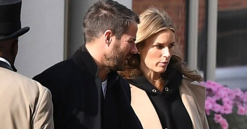 Jamie Redknapp and new wife Frida Andersson look loved-up as they leave London hotel after wedding