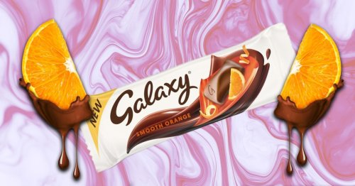 Galaxy orange flavoured chocolate bars are now on sale in the UK