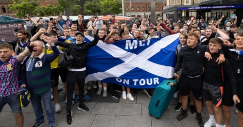 Tartan Army descend on London day before Euros grudge match against England