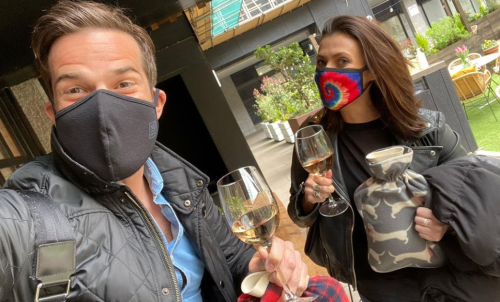 Gethin Jones and Kym Marsh finally get to socialise together after presenting over 100 episodes of Morning Live
