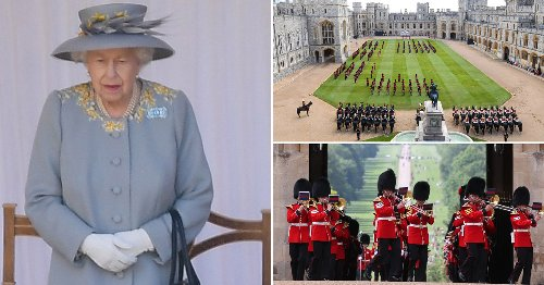 Queen watches scaled back Trooping the Colour for her official birthday