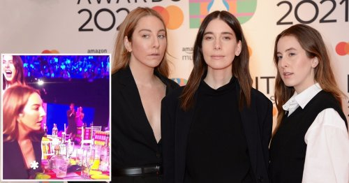 Este Haim wins the Brits yet again as she has best reaction to wardrobe malfunction
