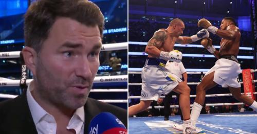 Eddie Hearn criticises 'average' Anthony Joshua performance after defeat to Oleksandr Usyk