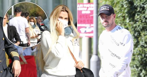 Katie Price and Carl Woods spotted returning from Turkey together after two-day trip for hair extensions