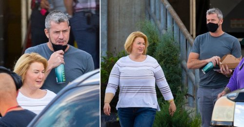 Renee Zellweger grabs lunch with boyfriend Ant Anstead as she continues filming amid backlash over 'triggering' fat-suit