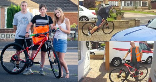 Delivery man caught on doorbell camera 'stealing teenager's bike'