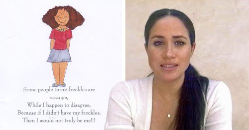 Meghan says 'some find her freckles strange' in unearthed book she wrote as teen