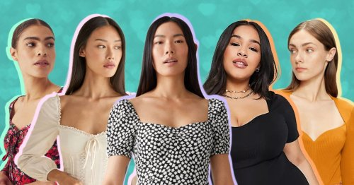 The sweetheart neckline is on trend again – here's how to wear it