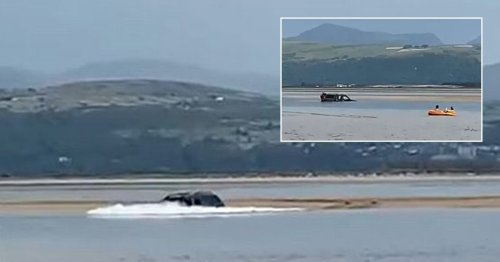 Driver's 4×4 sinks into sea after he 'ignored warnings' to park elsewhere