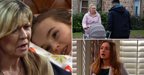 Emmerdale spoilers: 36 new images reveal child death terror, baby theft and Gabby caught out
