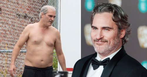 A grey, balding Joaquin Phoenix reveals full-on transformation for latest role