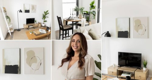 Blogger shows how first-time buyers can put their own stamp on their home — for under £500