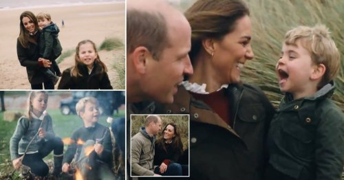 George, Charlotte and Louis steal the show in Kate and Will's anniversary video