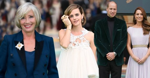 Emma Watson and Dame Emma Thompson rub shoulders with Prince William and Kate Middleton at Earthshot Prize ceremony