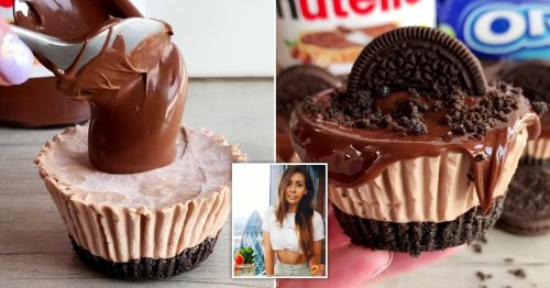 Baker reveals how to make Nutella and Oreo mini cheesecakes that set in just 20 minutes