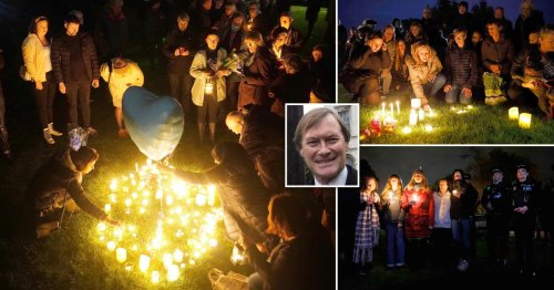 Hundreds of mourners attend candlelit vigil for Sir David Amess