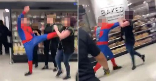Six hurt after man dressed up as Spider-Man attacks staff in Asda