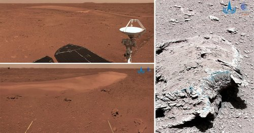 China's space agency releases new images of the surface of Mars