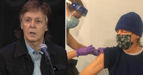 Sir Paul McCartney gets jabbed and urges fans to 'be cool' and do the same